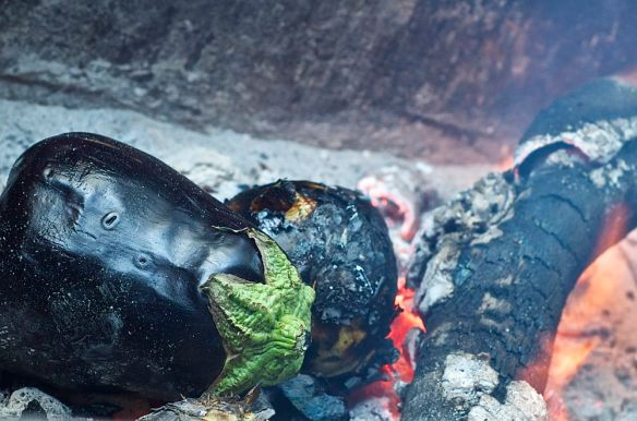 eggplant in the fire