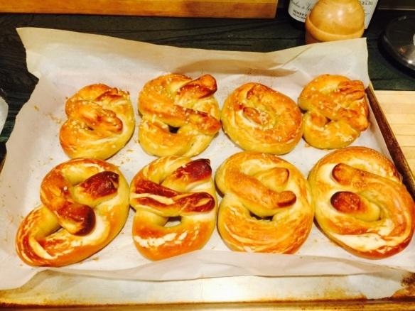 Alton Brown's homemade soft pretzels
